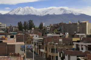 Photo of snow-capped Chachani